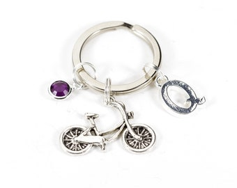 Personalised Bicycle Keyring | Cyclist Key Chain | Personal Bike Gift
