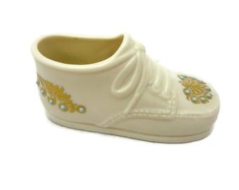 Lenox China Treasures Collection Baby Boy Shoe 1994