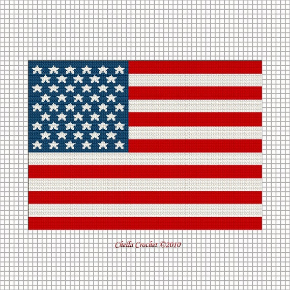 American Old Glory Stars And Stripes Red White Blue Flag Afghan