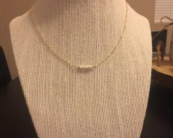 Gemstone bar choker necklace/choker necklace/14k gold filled choker/14k rose gold choker/gemstone choker