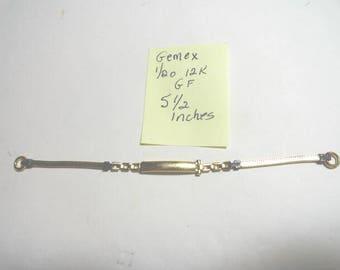Vintage Lady Gemex 1/20 12K GF Watch Band 2mm 5 1/2 Inches