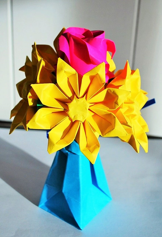 construction paper flower bouquet - Yelom.myphonecompany.co