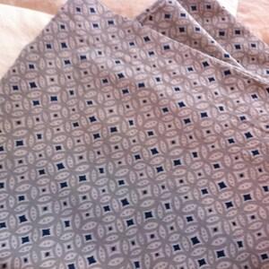 Stylish laundry bag for traveling. Men's travel accessories. Men's dirty clothes bag. Premium cotton drawstring bag. Gray/ Navy Diamond