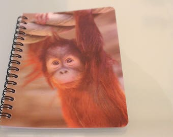 Spiral notebook monkey