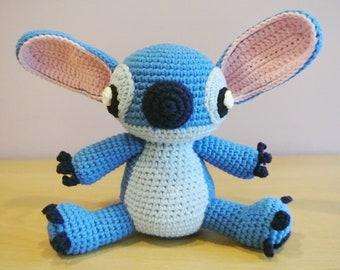 Crochet Stitch Amigurumi - Handmade Crochet Amigurumi Toy Doll - Monster - Stitch Crochet - Amigurumi Stitch Lilo