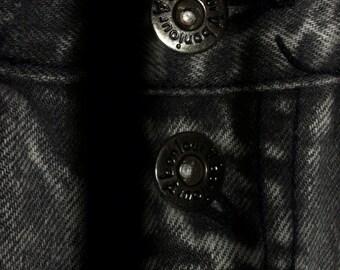 Vintage Black High Waist Stone Wash Acid Wash Bonjour Denim Jeans