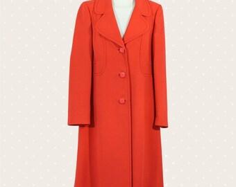 1960s Vintage red overcoat