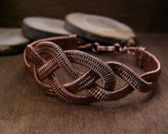 Bracelet Celtic - Viking bracelet - copper bracelet - for her Bracelet - wire wrapped jewelry - free SHIPPING WORLDWIDE