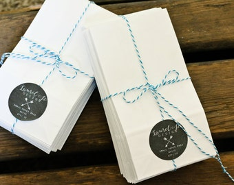 Mini Paper Bags - White Paper Bags - Paper Lunch Bags