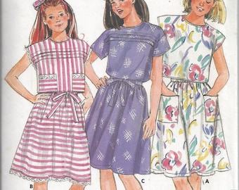 Butterick 3715 Pattern for Girls' Top & Skirt, Size 7, From 1986, FAST and EASY, Vintage Pattern, Home Sewing Pattern, 1986 Fashion Sewing