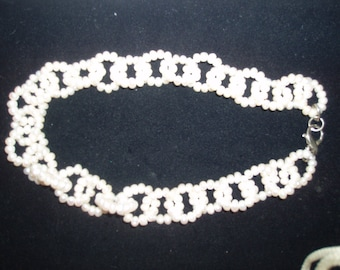 Vintage Seed Pearl Choker 8 inch Necklace