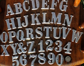 1.5 inch Metal Letters and Numbers- One and one half inches high- listing for ONE letter or number