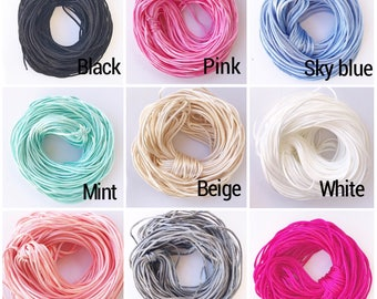 1.5 mm DIY Satin cord for Silicone Pacifier clip/teething necklace teething bracelet/ nylon cord for baby jewelry and accessories