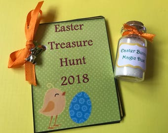 Easter Treasure Hunt and magic dust with rabbit charm