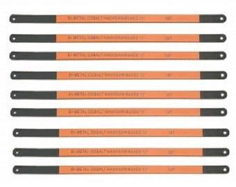 10 Piece Bi Metal Cobalt Hacksaw Blade Set