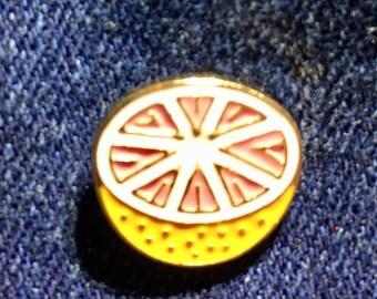 Grapefruit enamel pin badge