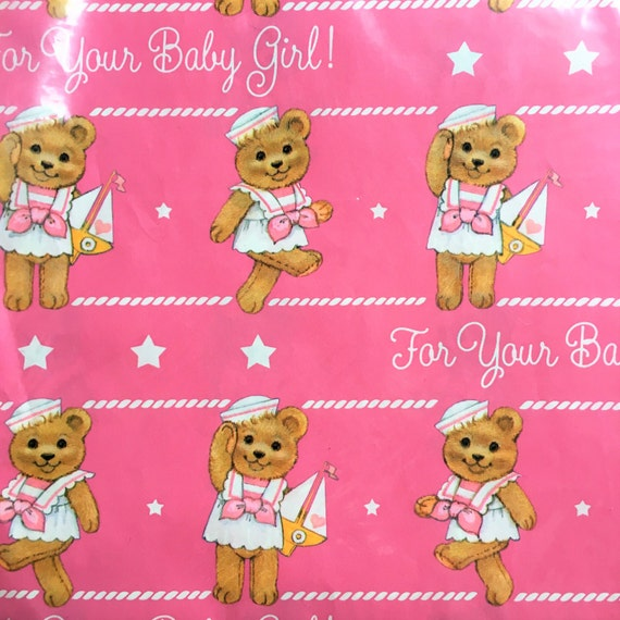 Vintage Gift Wrap Vintage Baby Shower Wrapping Paper Sailor Baby