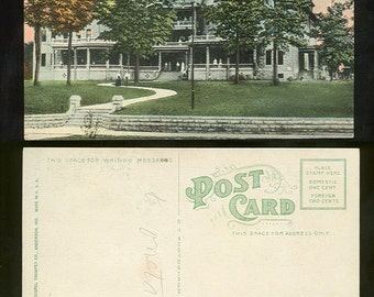 Trumpet House Anderson, Indiana Postcard
