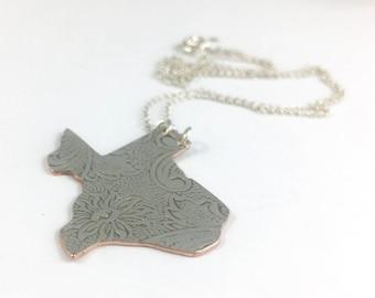 Texas Necklace, Texas Gift, Texas Map Necklace, Texas Jewelry, Texas charm, Vintage Texas, Texas Seal, Texas Pendant, Texas Woman Gift