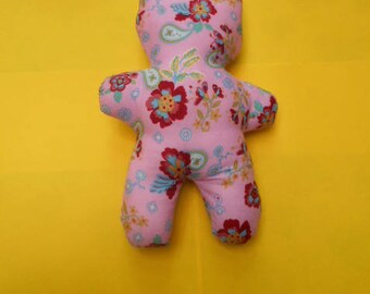 Plush - cat in floral fabric