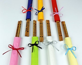 New Engraved Chopsticks with Paper Napkins,Chopsticks, Bamboo Chopstick,Wedding, Personalized Chopstick,Wedding Chopsticks,Min. Order 3 pair