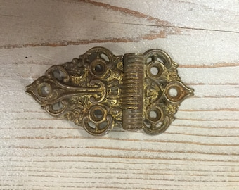 Ornate Antique Hinge, Filigree, Brass, 6 Different