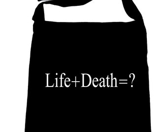 Life + Death = ? Sling Bag Question Everything Alternative Book Goth Psychobilly - SB-2016055