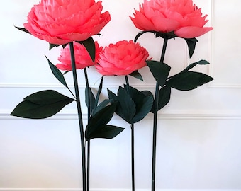 Free Standing Giant Paper Peony/ Wedding Backdrop/ Giant Paper Flowers/ Free Standing Paper Flowers/ Large Paper Flowers/ Flower Backdrop