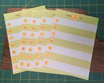 Paper To Do List Planner Paper Vintage Ephemera Planner Supplies Junk Journal Supplies Paper Crafting Smash Journal Paper Craftting Supply