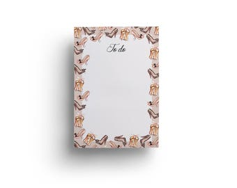 Fashion notepad, Fashion planner, To Do List, To Do Notepad, Chic Notepad, To do list fashion, Notepad, Fashion Illustration