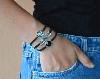 Flower bracelet, Boho Bracelet, hippie bracelet, bohemian bracelet, tribal bracelet, delicate bracelet, stacking bracelets, hippie jewellery