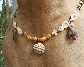 Polynesian Shell Equine Necklace -- Necklace for Horses - Jewelry for Horse
