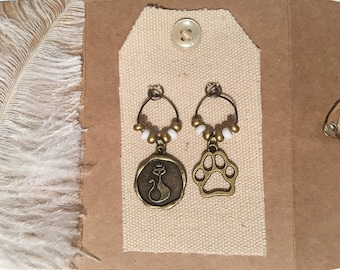 Wine Glass Charms Magnet - CAT DOG