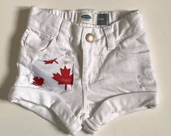 Canada Distressed Shorts