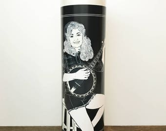 Dolly Parton on Banjo // 7 Day Altar Candle, Saint Candle