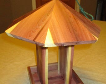 Hanging Cedar Bird Feeder