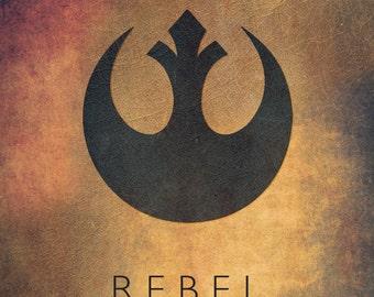 Star Wars Rebel Alliance Emblem Fan Art Digital Print
