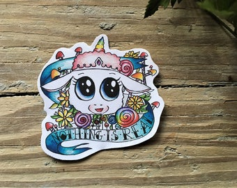 Rick and Morty sticker, Tinkles sticker, Ghost in a jar sticker. FREE SHIPPING