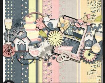 "Digital Scrapbook Kit, ""New Beginnings"""