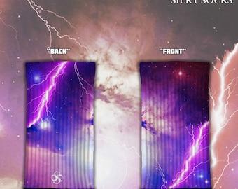 Purple Lightning! - Silky Socks