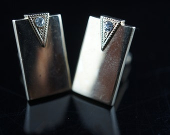 Vintage  Jewelry , Cuff Links ,Swank Collectible Vintage Engraving  cz P-002