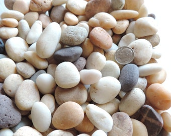 BULK of Small BEACH STONES for crafting Assortment of 35