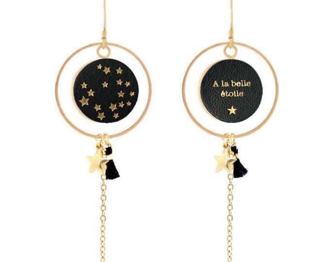 1 pair of ELDORADO pattern Black Stars / Valentine's day