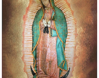 Our Lady of Guadalupe Art Print Blessed Virgin Mary #4034
