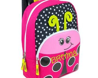 Personalized Girls' Ladybug Backpack - 16 inch