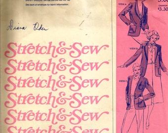 Stretch & Sew Shawl Collar Suit Jacket Pattern 1045
