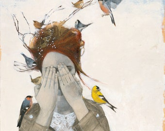 """Limited edition giclée print of original Lucy Campbell painting, """"When you close your eyes"""""""