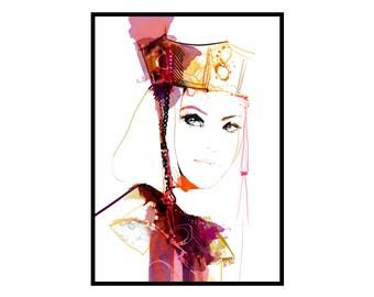 Victoria • Fashion Art Print | Fashion Illustration | Art poster | Wall art | Fine art print | Fashion sketch | Home decor | Woman portrait
