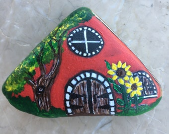 Stone painting house