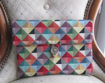"""Cover for """"ipad"""" multicolored upholstery fabric"""